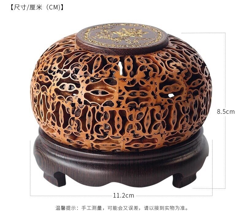 Lucky Lotus Nut Incense Burner